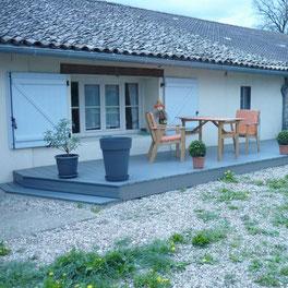 Terrasse par la menuiserie Lethu Lezay 79