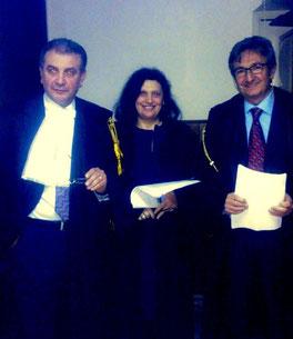 Gli avvocati Timpanaro, Anna Maria Gemmellaro e Piergiacomo La Via