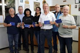 v.l.n.r.: Georg Macek, Günther Hillinger, Waltraud Vögel, Diana Rudolph, Reinhard Gut, Dirk Gentzsch, Josef Kessler