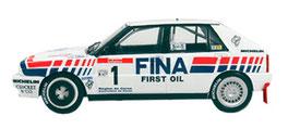 vettura da rally lancia delta 16v integrale dell' 89 - 90 grafica completa di pubblimais a torino