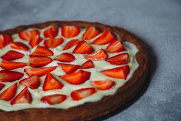 Erdbeer-Käsekuchen zuckerfrei, Rezept ohne Zucker, lecker