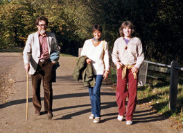 1980: Francis Huxley, Hazel Nash, Theodor Itten in Hampstead Heath