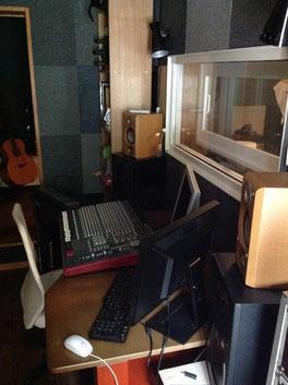 「秩父長瀞Yoshi Studio」の録音スタジオの様子