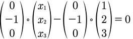 Rechenweg zur Berechnung der Koordinatenform