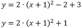 Lösung des Beispiels zur quadratischen Ergänzung