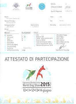 Giudizio del WDS Mondiale del 11-6-2015 Giuggiola