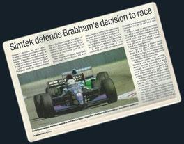 David Brabham en San Marino 1994.