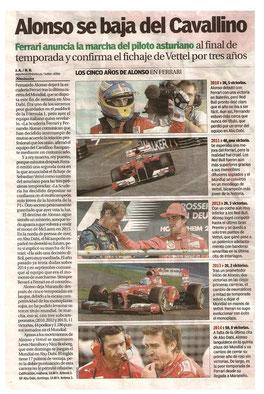 Alonso dice adiós a la Scuderia.