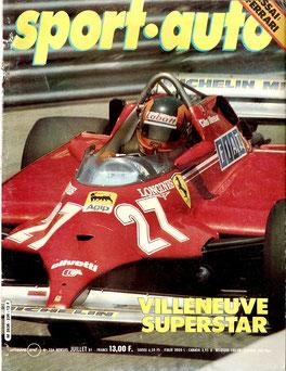 Gilles Villeneuve en Soport Auto