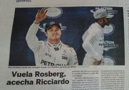 """Nico Rosberg en """"El País"""""""