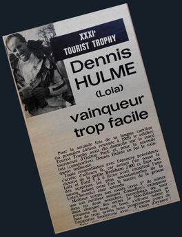 Denny Hulme vainqueur Tourist Trophy