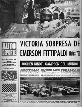 Victoria de Fittipaldi en Autopista