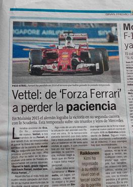 Vettel en el GP de Malasia 2016