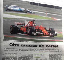 Seb en el XIII Bahrain Grand Prix de 2017