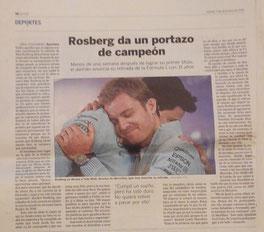 Nico Rosberg da un portazo de campeón.