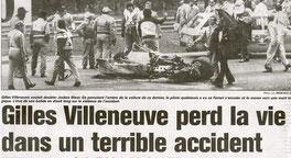 Gilles Villeneuve perd la vie dans un terrible accident