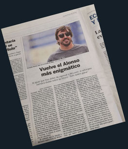 Vuelve el Alonso más enigmático en El País.