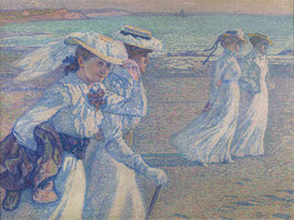 Théo VAN RYSSELBERGHE (1862 - 1926), The promenade, 1901, Oil on canvas, 97x 130, 1901 © Brussels, MRBAB/KMSKB