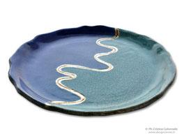Piatto ceramica raku - Premio Hemingway - Città di Lignano