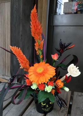 生花ハロウィンアレンジ