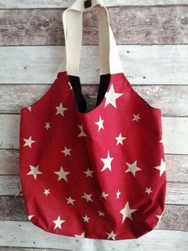 Shopper Einkaufstasche Tragetasche Tasche Beutel Stern Sterne Sterntasche Handtasche handgemacht Handarbeit handmade SaSch Selbstgefertigtes aus Schwaben