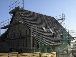 Dach fertig eingedeckt