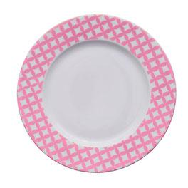 Assiette motif sixties Nara Porcelaine