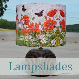 Lampshades lamps bird nature art