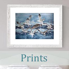 batik art prints birds nature