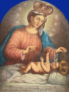 Votivsäule (Maria Trost): Das restaurierte Gemälde - Abbild Gnadenbild von Maria Plain