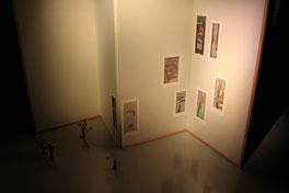 ギャラリーれぐまつなみ様のご協力により実現した、屏風仕立ての展示