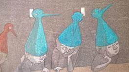 作品  「青い鳥たち」 (2011年)