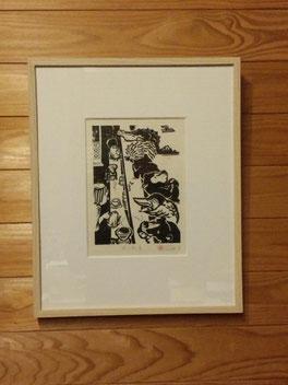 松本作品は2017年のカレンダーにも使われている、喫茶店シリーズより 「待たせる店」