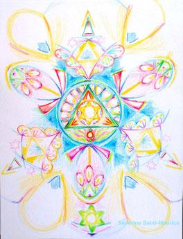 dessin intuitif, severine saint-maurice, lescerclesdelumiere.com, rosace, hologramme
