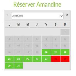 planning de réservation des chambres d'hôtes du gîte de la ferme du Puy d'Anché par e-cime.fr