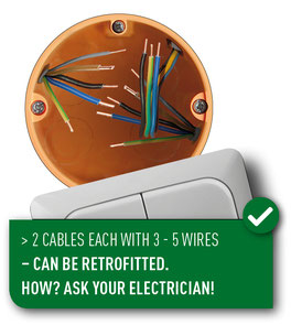 wiring scheme with more than 2 cables with 3 to 5 wires each