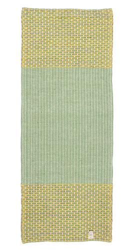 Indische Yogamatte Bio Baumwolle grün