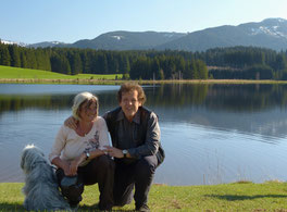 Helene und Bernhard Mühlegg, meine Helfer vor Ort