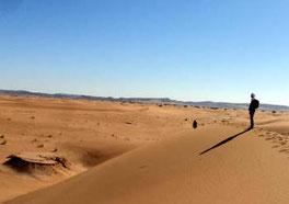 Viaggi nel deserto del Marocco : tramonto