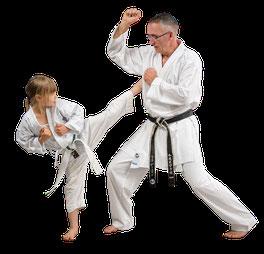 Während alle körperlichen Aktivitäten das Wohlbefinden fördern, legt Karate durch das Wiederholen körperlicher und geistiger Übungen einen besonderen Schwerpunkt auf Charakterbildung, Steigerung des Selbstvertrauens und Ausdauer.