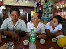 Les trois responsables de SHGs (Self Help Groups).
