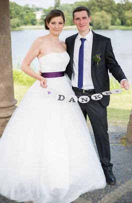 Brautkundin Hochzeitstag Styling