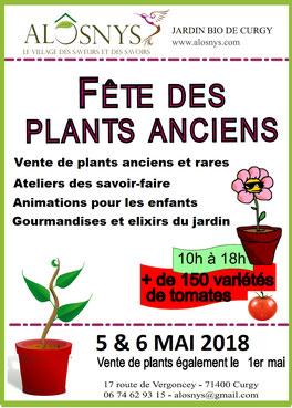Fête des plants anciens à Curgy les 6 et 7 mai 2017