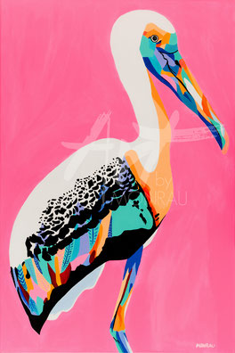 original painting with colorful bird
