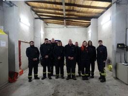 9 von (damals) 10 Gutendorfer Kameraden am 15.03.2019