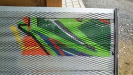 Graffitientfernung - vorher