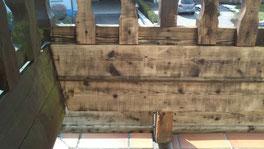 Holzgeländer - nachher
