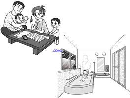 読売新聞 住宅広告用イラスト 成作