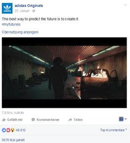 Videoclip auf Facebook von adidas Originals
