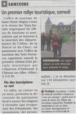 Le Berry Républicain, 29 mai 2013